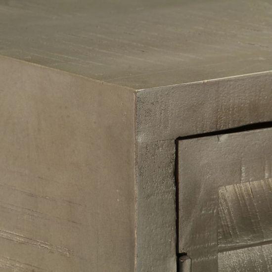 shumee Predalna omarica Mango Les Siva medenina 140x40x80 cm
