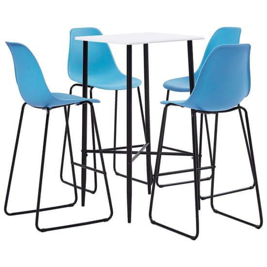 shumee 5-częściowy zestaw mebli barowych, plastik, niebieski