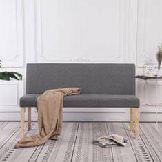 shumee Lavica 139,5 cm bledosivá polyester