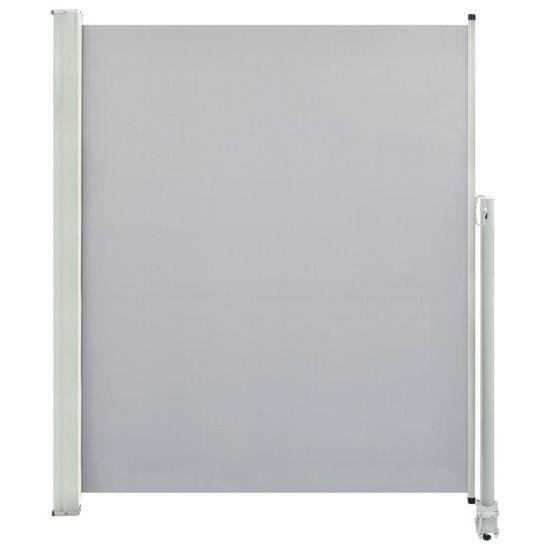 shumee szürke behúzható oldalsó terasz napellenző 160 x 300 cm