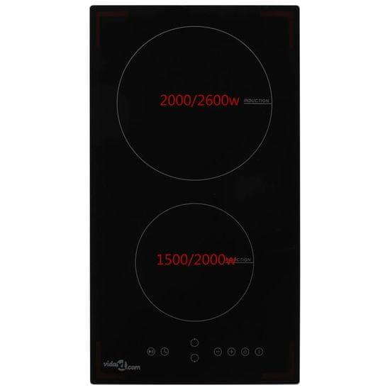 shumee Indukcijska plošča dvojna na dotik steklo 3500 W