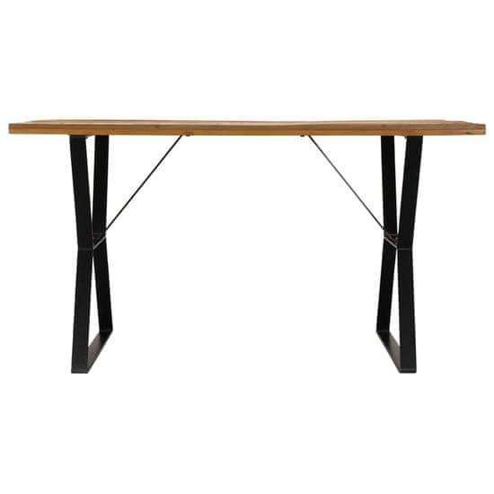 shumee Jedilna miza 140x80x76 cm trden predelan les