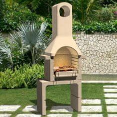 shumee Betonowy grill z kominem, na węgiel drzewny
