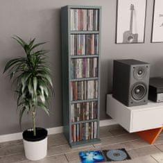 shumee Szafka na CD, szara, 21x20x88 cm, płyta wiórowa