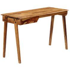 shumee Písací stôl 118x50x76 cm masívne sheeshamové drevo
