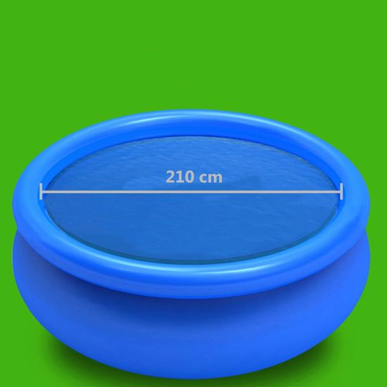 shumee Pokrivalo za bazen modro 210 cm PE
