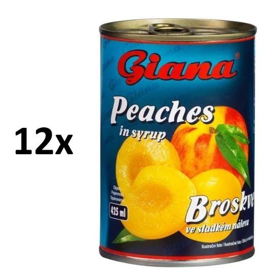 Giana Giana Broskyne v mierne sladkom náleve 12 × 425 ml