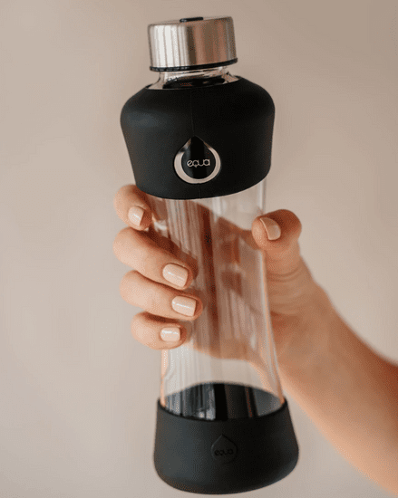 Equa steklenička, steklena, Active Black, 550 ml