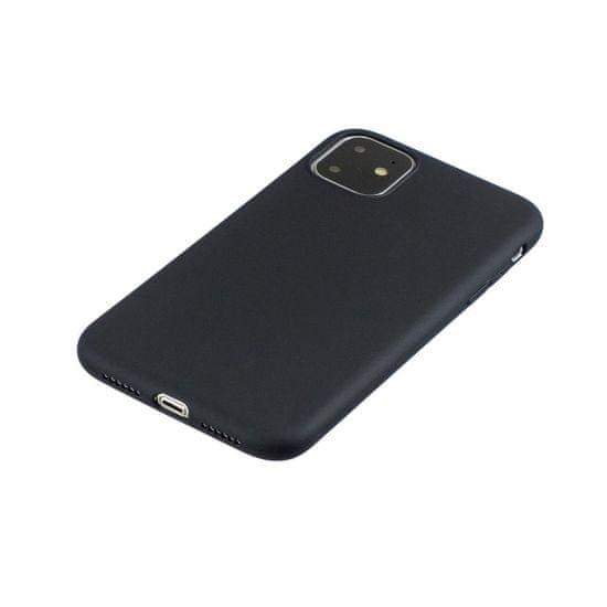 Ovitek za iPhone 11 Pro Max, silikonski, mat črn