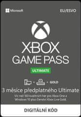 Microsoft Game Pass Ultimate - předplatné na 3 měsíce (QHX-00006)