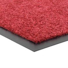 FLOMA Červená vnitřní vstupní čistící pratelná rohož Twister - 40 x 60 cm