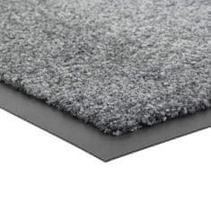FLOMA Šedá vnitřní vstupní čistící pratelná rohož Twister - 40 x 60 cm