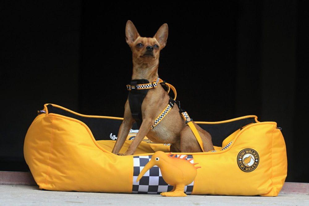 KIWI WALKER Racing Cigar pelech z ortopedické pěny L, žlutý