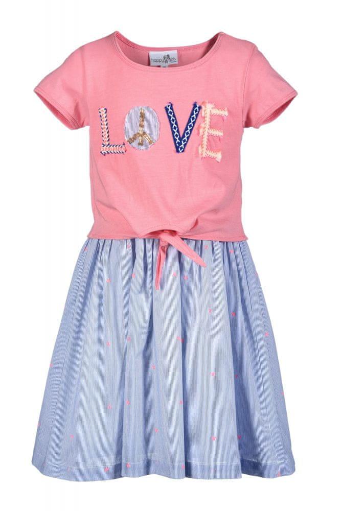 Happy Girls dívčí šaty 164 růžová