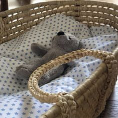 Aesthetic Hnízdo pro miminko péřové-podložka - bavlněné plátno - Hvězdička modrá