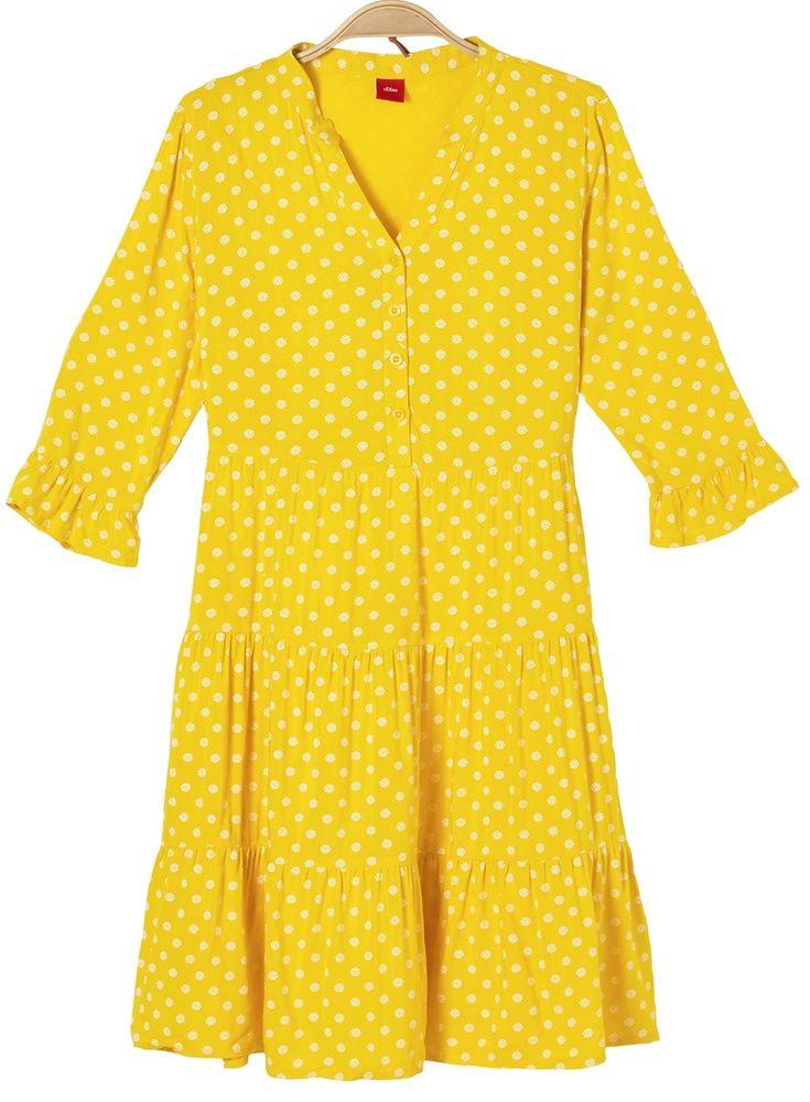 s.Oliver dívčí šaty 164 žlutá