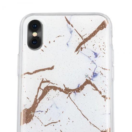 Ovitek Marmor za Samsung Galaxy A10 (A105), silikonski, bel
