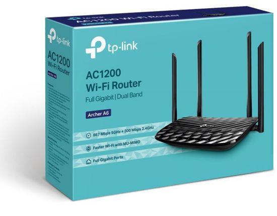 TP-Link Archer A6, AC1200, MU-MIMO Gigabit brezžični Wi-Fi usmerjevalnik