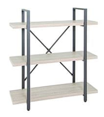Mørtens Furniture Regál s 3 policami Osten, 90 cm