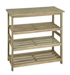 Mørtens Furniture Regál so 4 policami Yuri, 72 cm, dub
