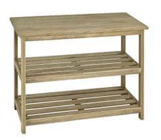 Mørtens Furniture Regál s 3 policami Yuri, 52 cm, dub