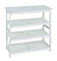 Mørtens Furniture Regál so 4 policami Yuri, 72 cm, biela