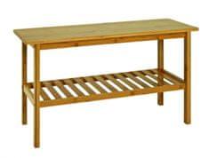 Mørtens Furniture Lavica s policou Piper, 47 cm, bambus