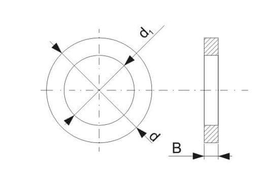 Pilana Zmanjševanje prstan 25,0x16,0 x 1,5 (019 25016015)