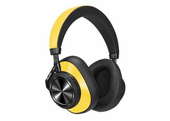 Symfony T7 kvalitní Hi-Fi kovová sluchátka, žlutá