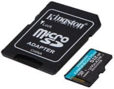 Kingston microSDXC 512GB Canvas Go Plus 170R A2 U3 V30 + adaptér (SDCG3/512GB)