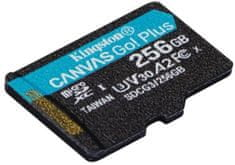 Kingston microSDXC 256GB Canvas Go Plus 170R A2 U3 V30 (SDCG3/256GBSP)