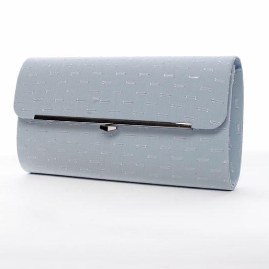 Michelle Moon Zajímavé dámské psaníčko s kovovým prvkem Guy modrá