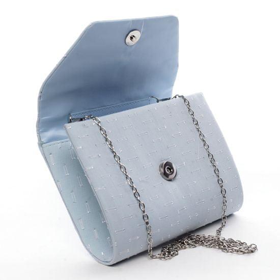 Michelle Moon Zajímavé dámské koženkové psaníčko do ruky Clotilde modrá
