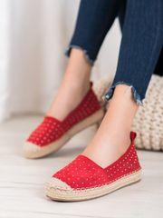 Női balerina cipő 63001 + Nőin zokni Gatta Calzino Strech, piros árnyalat, 36
