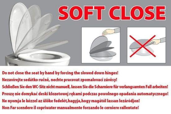 GSI CERAMICA Norm/pura wc sedátko, slim, soft close, biela/chrom (MS86CSN11)