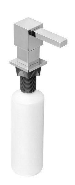 SAPHO Zápustný dávkovač mýdla, hranatý, chrom (SP011)