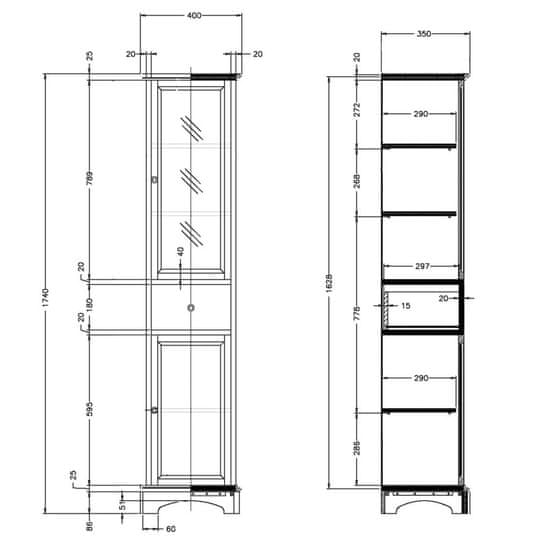 Gallo Wood GALANTA ZEUS1 doplňková skříňka 41x176x35cm, masiv (1707)