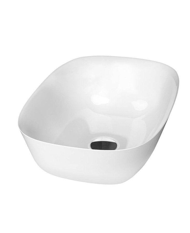 SAPHO REIKO umyvadlo 46x32cm, litý mramor, bílá (RE460)