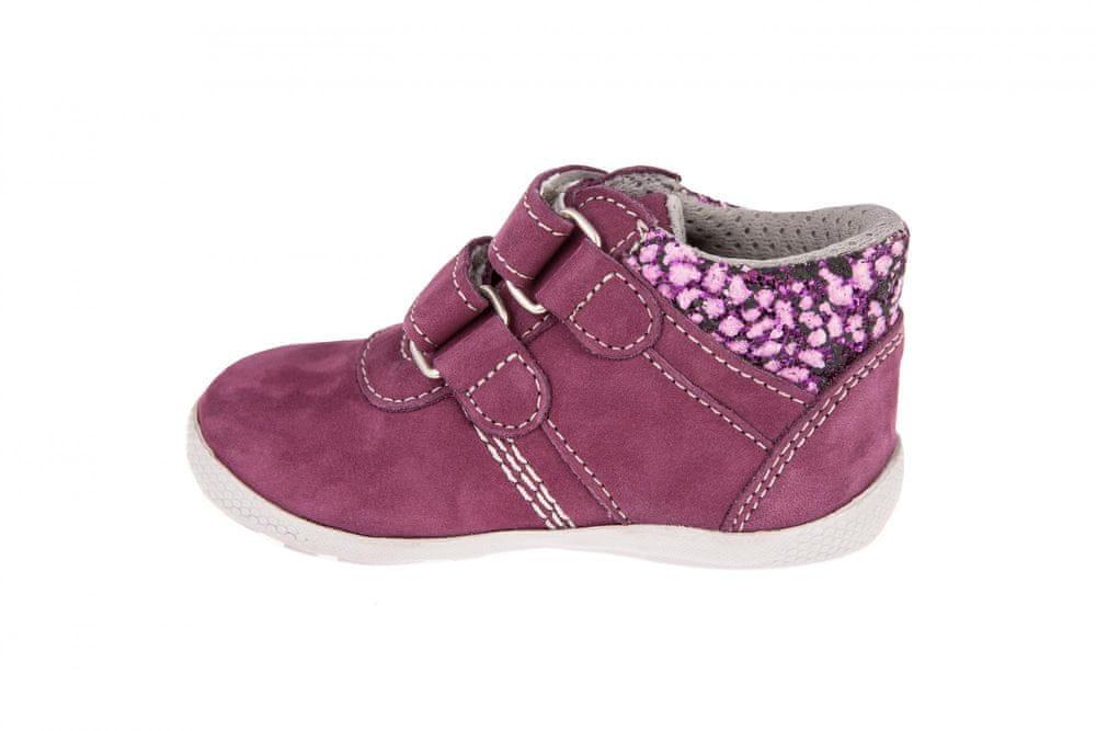 Medico Dívčí kožená obuv EX5001/M56 23 růžová