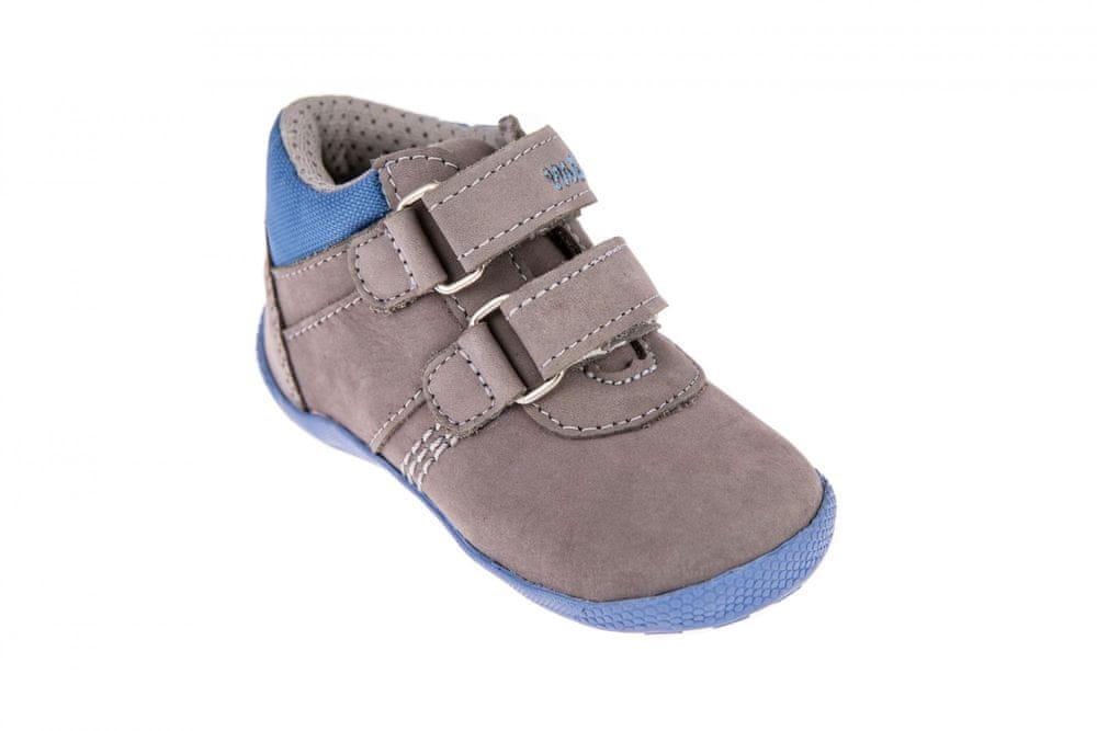 Medico Chlapecká kožená obuv EX5001/M59 19 šedá