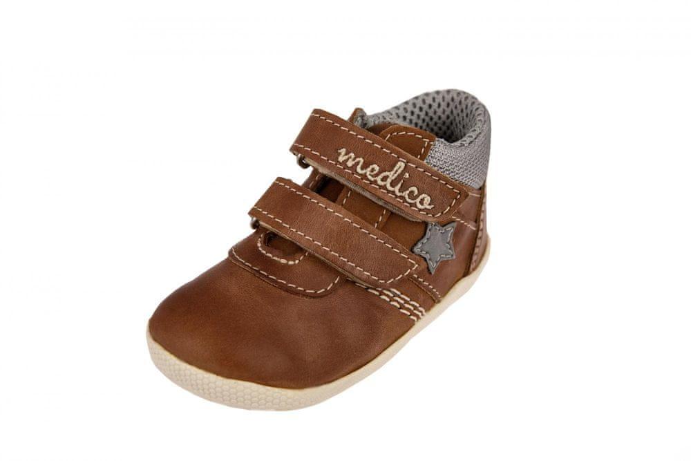 Medico Dětská kožená obuv EX5001-M57 19 hnědá