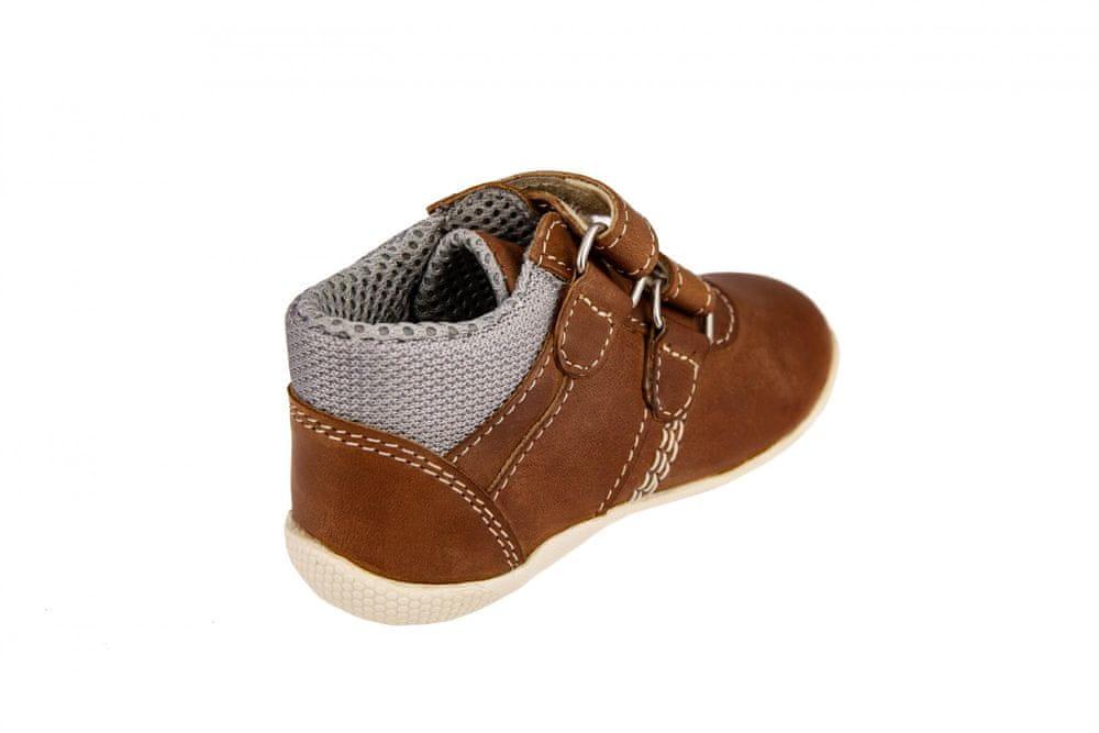 Medico Dětská kožená obuv EX5001-M57 25 hnědá - zánovní