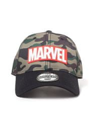 Difuzed Marvel: Camouflage Logo Adjustable Cap kapa s šiltom