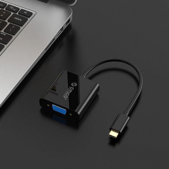 Orico XD-122 adapter USB-C v VGA, črn
