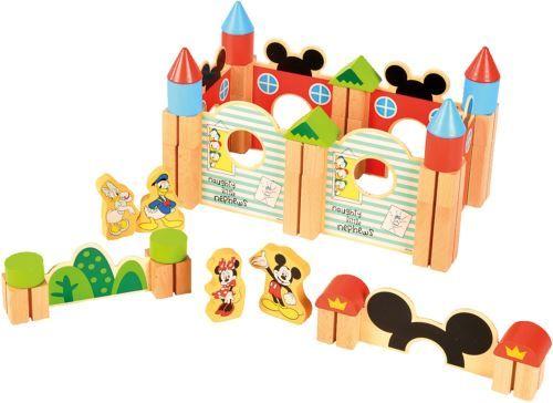 Derrson Disney Dřevěné Velké kostky 60 ks Mickeyho hrad
