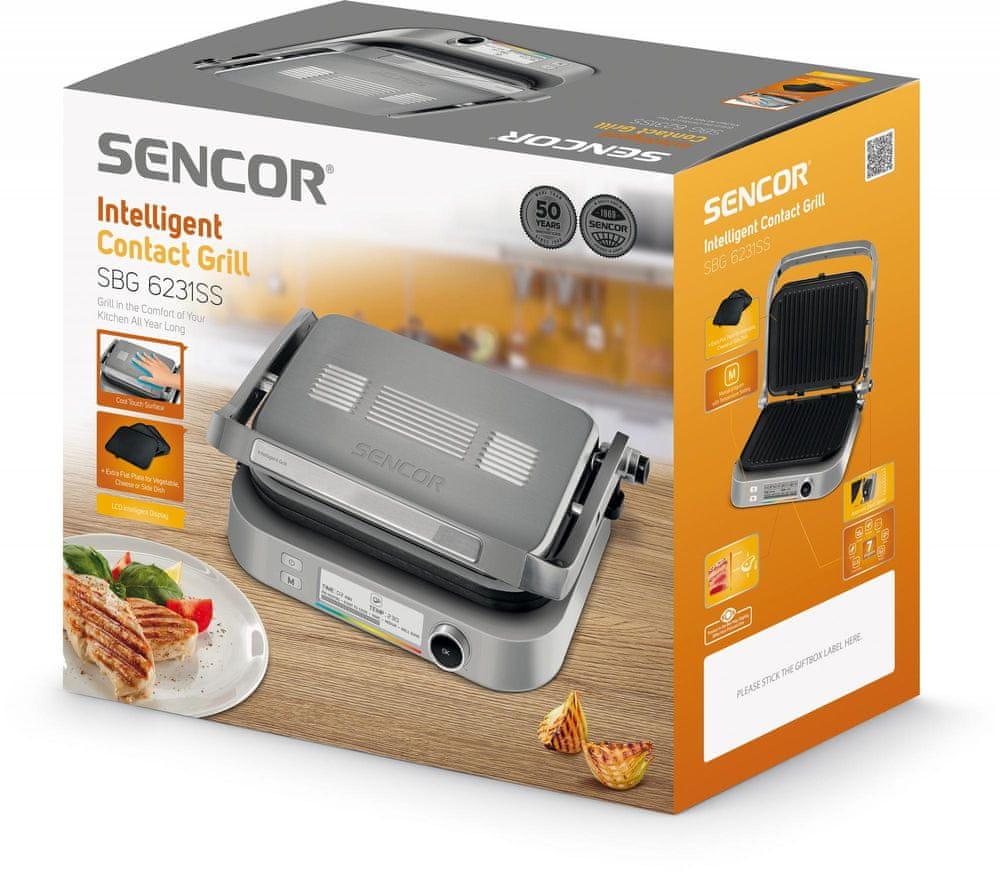 SENCOR kontaktní gril SBG 6231SS - použité
