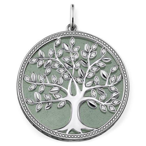 """Thomas Sabo Přívěsek """"Zelený strom lásky"""" , PE760-909-6, Sterling Silver, 925 Sterling silver, blackened, aventurine, zirconia white"""