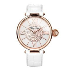 Thomas Sabo Dámské hodinky , WA0256-269-202-38 mm, Watches, stainless steel rose gold-coloured/silver-coloured, mineral glass sapphire coating, leather strap with alligator-print white