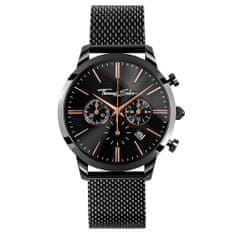 Thomas Sabo Pánské hodinky , WA0247-202-203-42 mm, Watches, stainless steel, mineral glass sapphire coating, stainless steel strap black, onyx