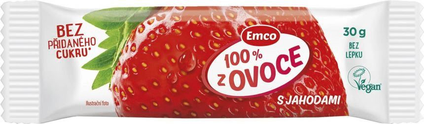 EMCO Tyčinka 100% ovoce jahoda 30× 30 g